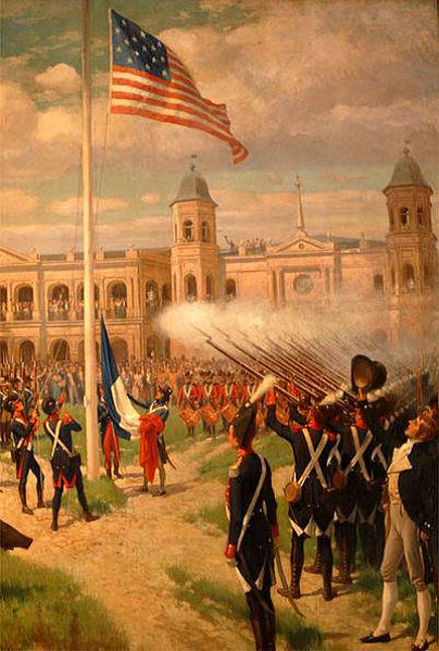 The Hoisting of American Colors over Louisiana