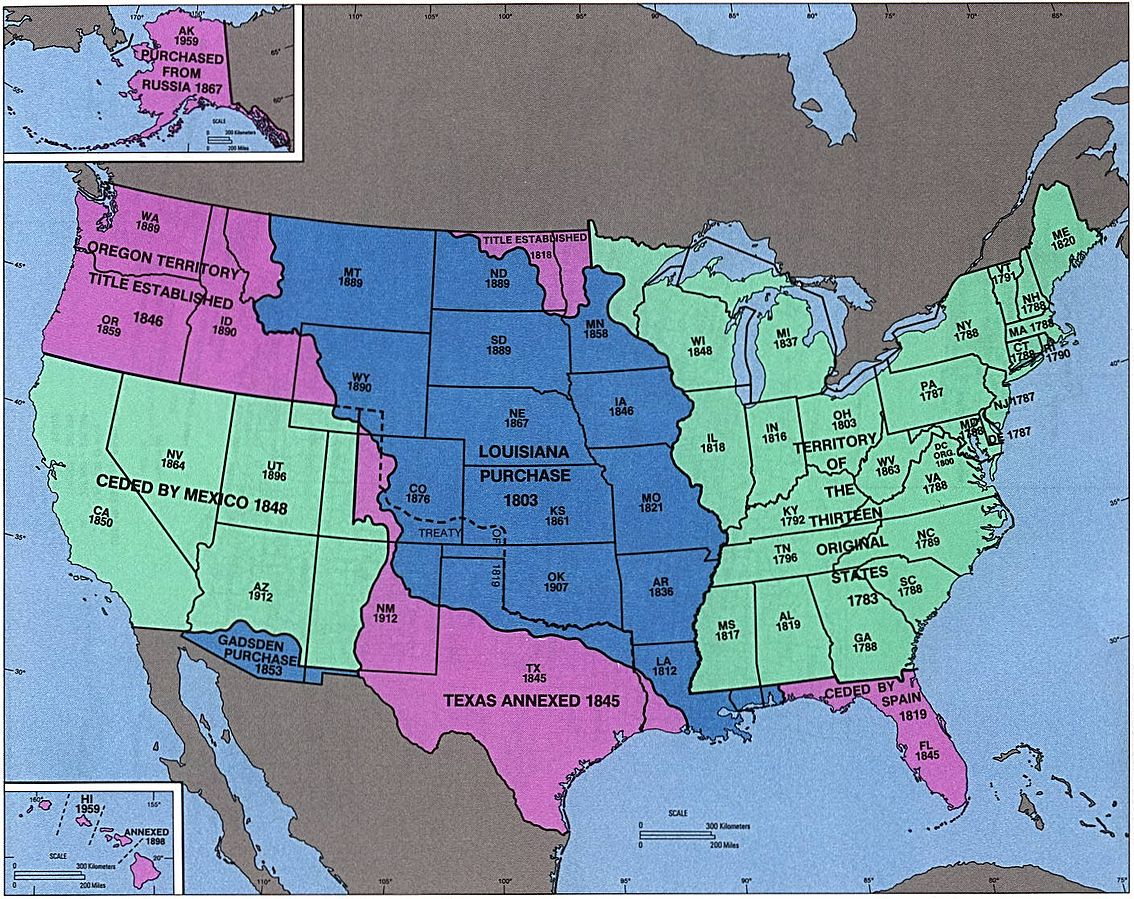 Map of the Growth of the U.S.