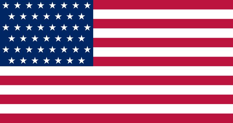 US Flag July 4 1896 - July 3 1908