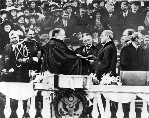 Woodrow Wilson sworn is as President 1913