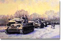 German Tanks Left Stalingrad in Ruins